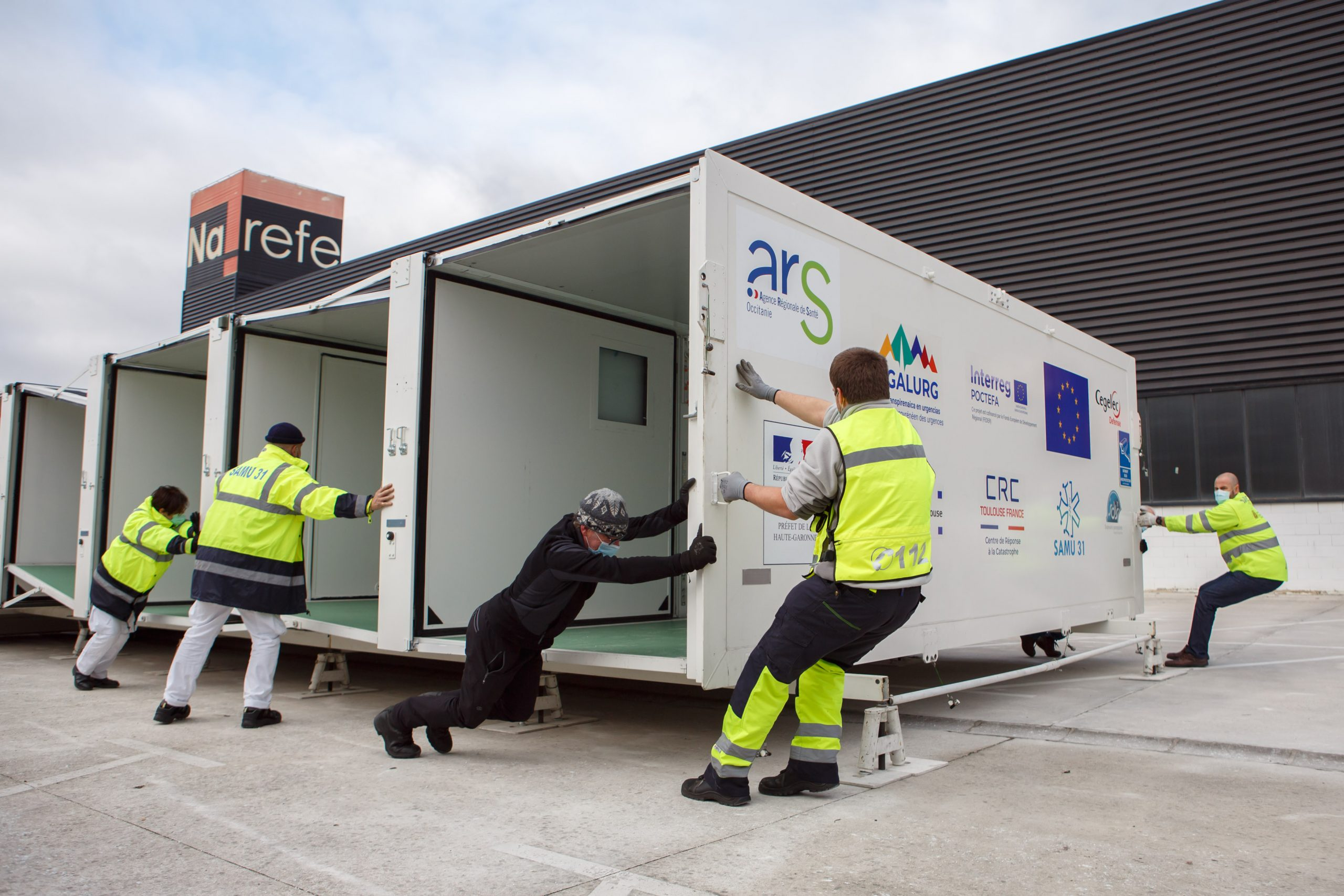 A mobile hospital providing emergency services will travel to several locations in Navarre in coming weeks to support COVID-19 vaccination procedures