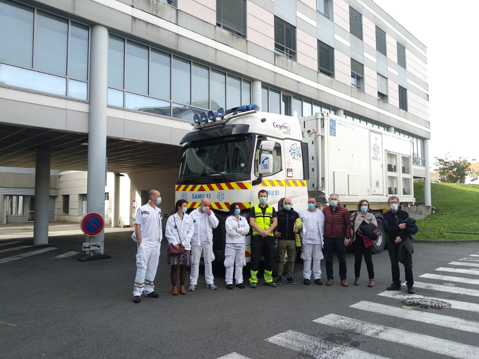 Mobile emergency unit returns to Toulouse after visiting Navarre to support COVID-19 vaccination campaign